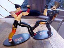 "Tekken3 rare collectables. Jin Kazama and Paul Phoenix Epoch 1998 7"" figures"