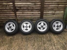 Original Genuine Ford Fiesta Supersport Alloys + New Tyres+ Original Nuts