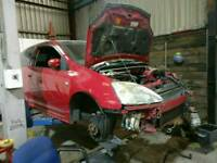 Breaking Honda Civic Type R Facelift Silver Prefacelift Red