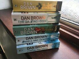 Selection of 5 Dan Brown Books