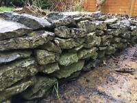 Large quantity of unwashed flat stone.