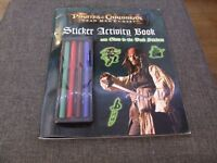 Pirates of the Caribbean Johnny Depp Sticker/Activity book new condition