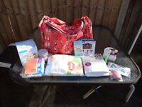 Maternity bag with contents
