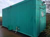 container portakabin washroom with 3 rooms 2 changing rooms middle 4 showers