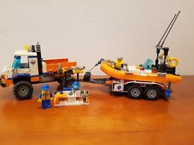 Lego City Rescue Boat and launch Vehicle 7726