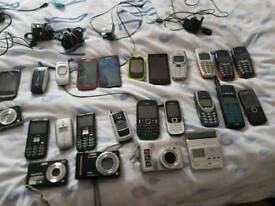 Various phones cameras