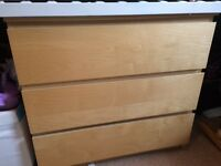 Ikea malm chest of drawers beech