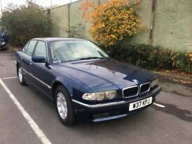 BMW 728I E38 AUTOMATIC PETROL 4 DOOR SALOON BLUE WITH SERVICE HISTROY
