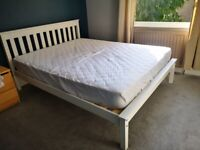 King Size Double Bed & Mattress. As New.