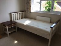 John Lewis single bed, bedside table and chest of draws set