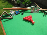 6 x 3 Snooker table with all accessories