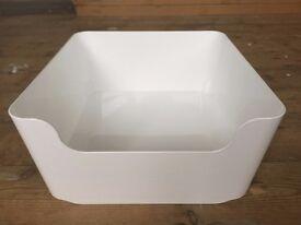 IKEA PLUGGIS White Box Container Waste Sorting Bin 8L (L 34 x W 31 x H 15 cm)