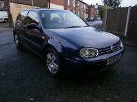 2001 VW GOLF GT TDI, FULL MOT, FULL SERVICE HISTORY, 2 OWNERS FROM NEW. LAST OWNER SINCE 2003.