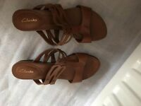 Clarks ladies shoes,U.K. Size 5/6, worn once,exactly as seen in pics,quick sale at £45