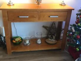Solid Wood Console and Coffee Table