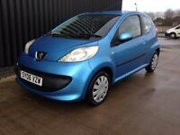 2006 Peugeot 107 1.0 12v Urban 3dr LOW MILEAGE 2Keys 1 Previous Owner £20 RoadTax Finance Available