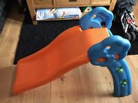 Qwikfold Grow 'N Up First Play Garden Slide - 1-3 Years - Orange, Blue & Green - Perfect Condition