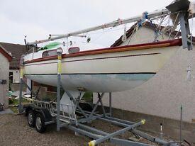 Pandora 27 sailing boat finn keeled