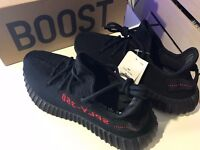 Adidas Yeezy 350 V2 Black Red 'Bred' - 100% Authentic (Size 8)