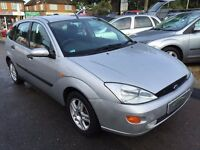 2001/Y FORD FOCUS 1.6LX,5 DOOR,SILVER,MOT UNTIL OCTOBER 2017,LOOKS AND DRIVES WELL,DRIVE AWAY TODAY