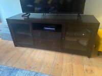 Tv unit, from Pottery Barn, solid dark wood