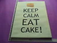 """KEEP CALM EAT CAKE!"" 50 X 40cm Canvas Print, Bedroom, Dining Room, Decoration, Poster, Photo, Food"