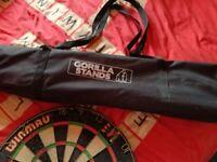 Dartboard , Gorilla Stand & Accessories