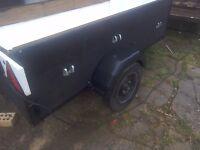 A good strong car trailer 6feet x3feet ideal boot sale trailer