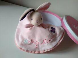 Baby girl comforter rabbit design by Kaloo in beautiful gift box