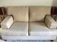 M&S 2 seater sofa, oatmeal fabric, excellent condition