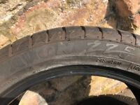 Avon ZZ5 245/45 R18 XL ultra high performance tyres x2. Brand new (c.500 miles light use)