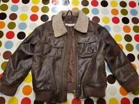 John Lewis boy's faux leather jacket for age 3