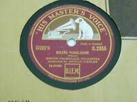 HMV 78rpm, Bolero conclusion, Ravel, Boston Promenade Orchestra