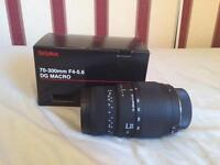 Sigma 70-300mm F4-5.6 DG MACRO Lens (Nikon)