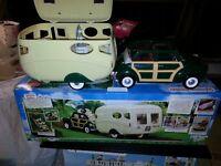 sylvanian families car and caravan