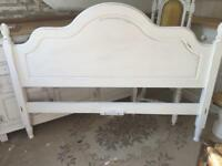 Double vintage Pine headboard Shabby Chic