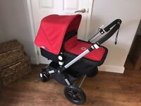 Bugaboo Cameleon 3 Black and Red in excellent condition with extras