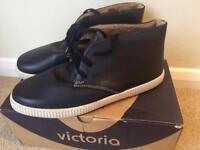 Victoria fur lined high top trainers