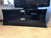 Gloss black modern TV stand