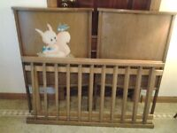 Old wooden child's cot