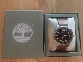 Men's Timberland watch brown leather strap. Pre used excellent condition, including box