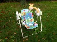 Rocking swing for baby