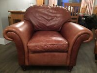 Laura Ashley Mortimer Antique Leather Armchair
