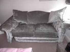 DFS 3-seater Formal-Back Sofa with 2 Matching Cushions