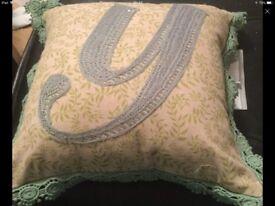 Cushion 30/30cm one side velvet brand new is £15 from marks and Spencer's