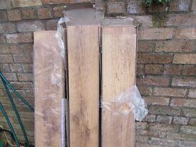 Rustic Oak Laminate Flooring - 2 packs 18 sheets 514120/471582