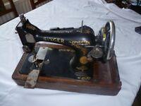 Vintage Singer sewing machine. Electrical. Display etc.