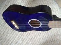 Deep petrol blue / purple ukulele