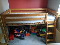 Childrens mid sleeper bed - FREE