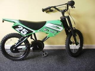 CHILDS BIKE  MOTOBIKE  FRONT SUSPENISION     KIDS BIKE 16INS WHEELS